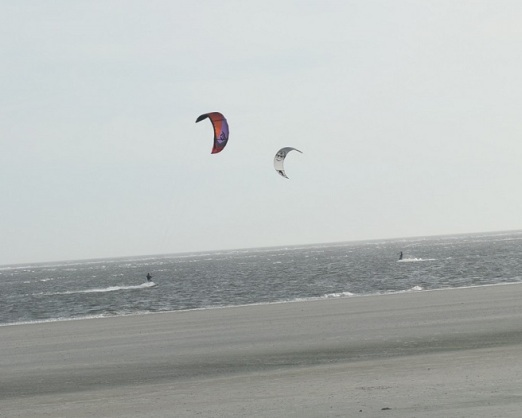 two-kite-surfer